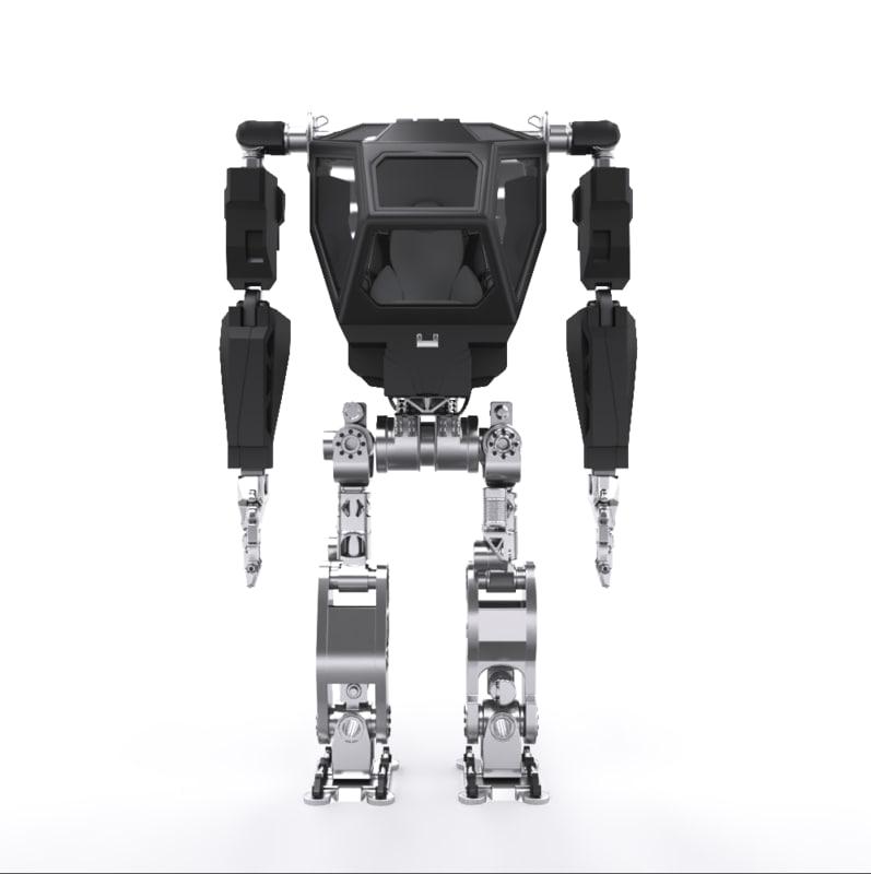south korean bipedal robot 3D