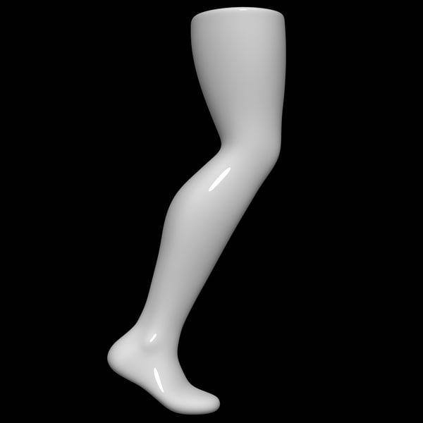 3D model mannequin foot man