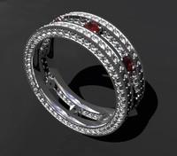double ring diamond 3D model