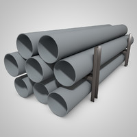 pipe rack 3D model