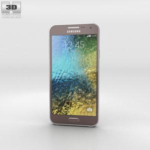 samsung galaxy e5 3D model