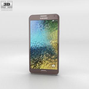 samsung galaxy e7 3D model