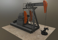 3D model oil pumpjack jack