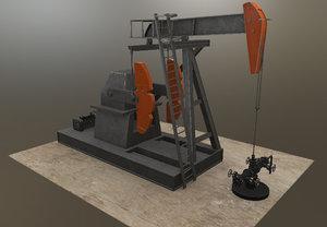 3D model oil pumpjack jack