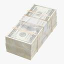 one hundred dollar bill 3D models