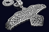 Raven Necklace 220 Viking 3D print model