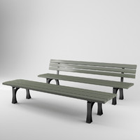 3D model munich benches