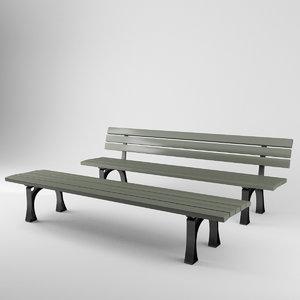 3D model munich benches