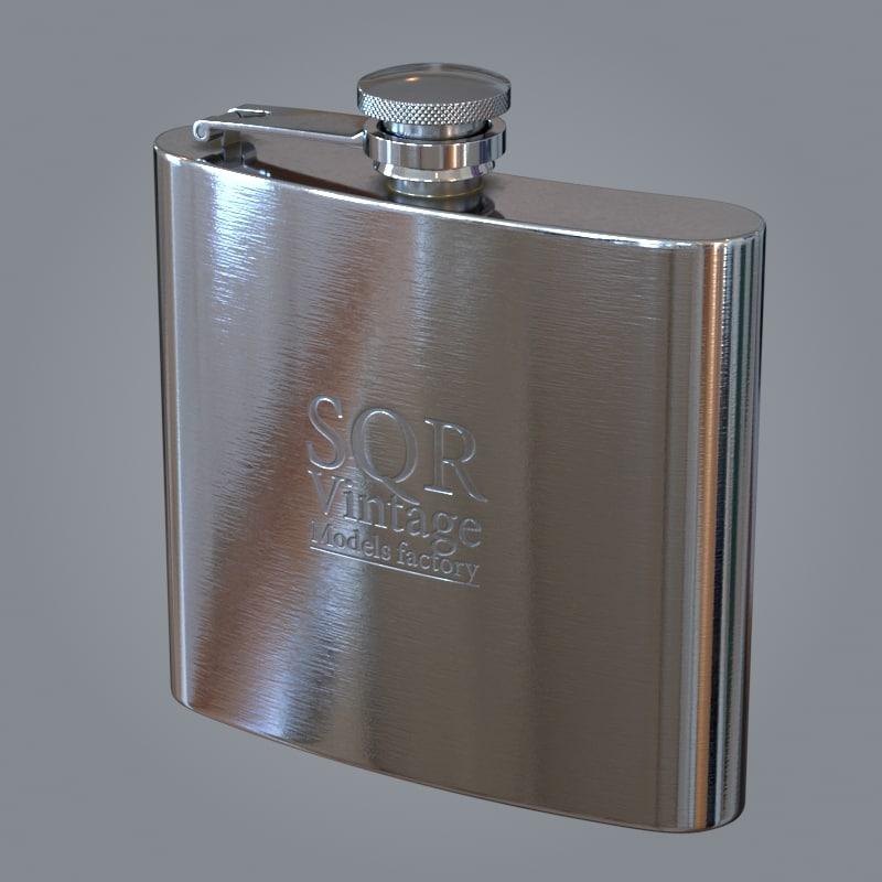 liquor flask 3D