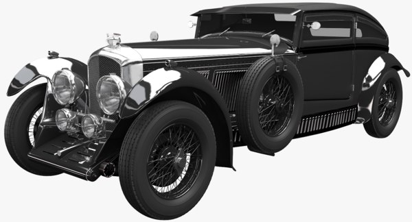 bentley blue train 3D model