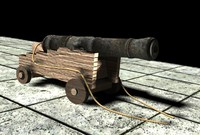 3D broadside cannon model