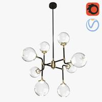 3D modern 8 spheres chandelier