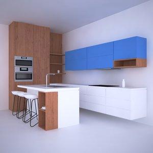 ready kitchen 3D model