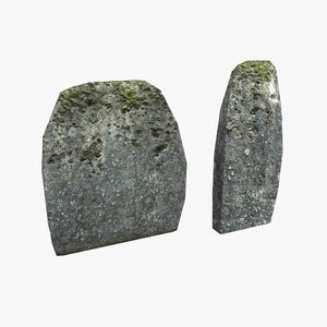 headstone stone 3D model