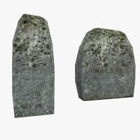headstone stone 3D