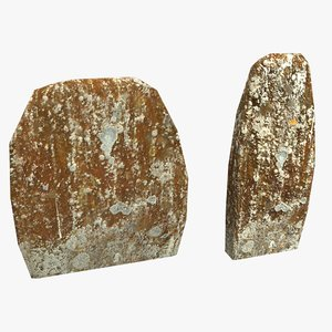 headstones lichen model
