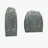 3D model headstone stone