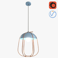 3D cute color chandelier model