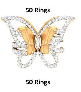 50 rings 3D model