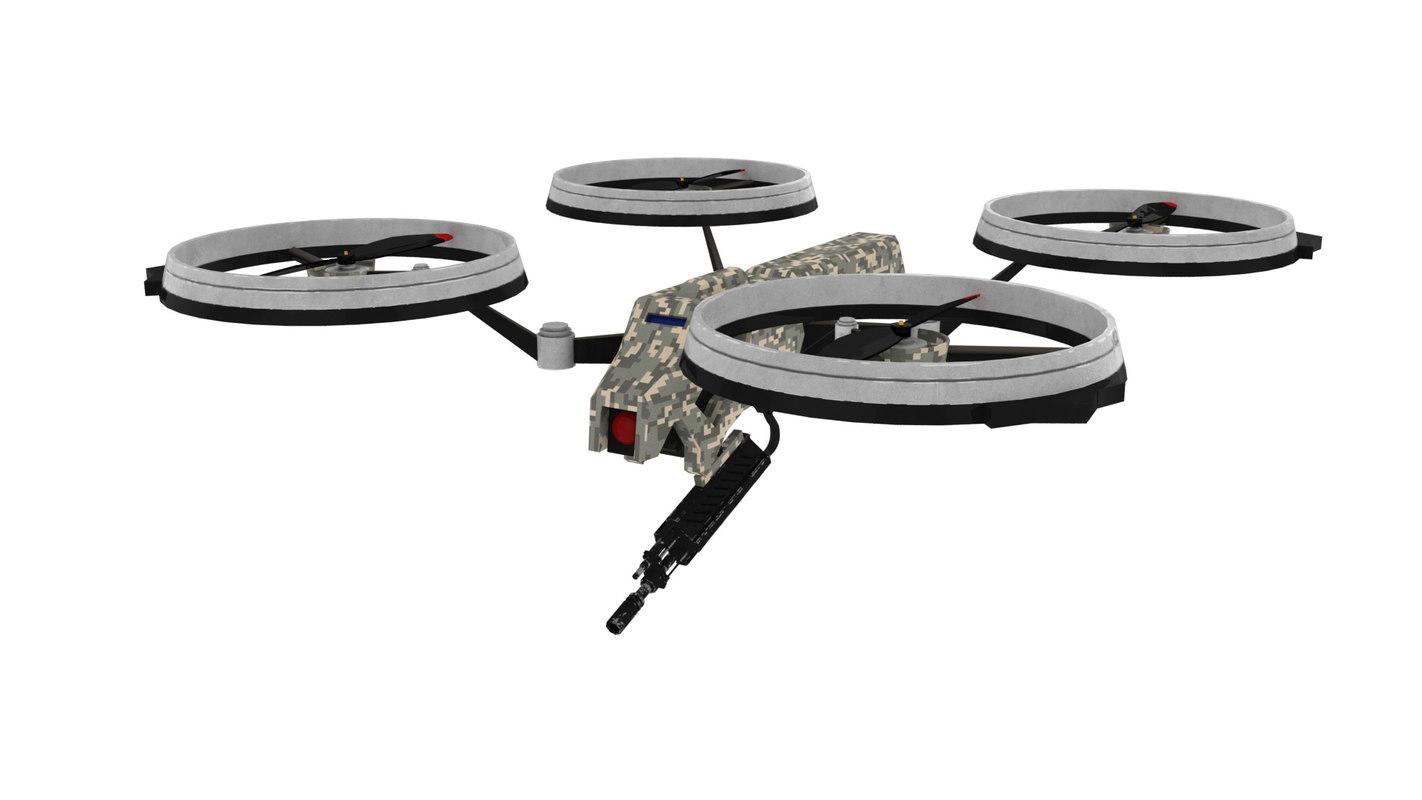 3D model prototype quadrotor
