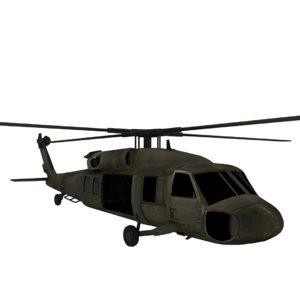 uh-60 black hawk 3D