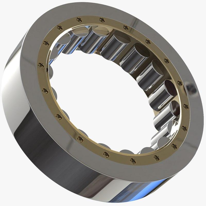 engineered bearings 3D model