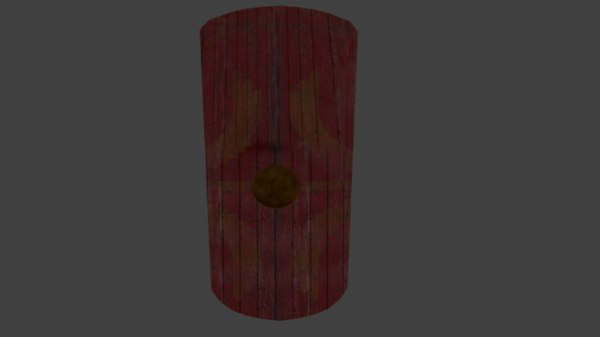 roman scutum shield model