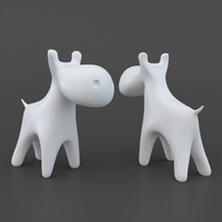 toy cow 3D model