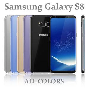 samsung galaxy s8 colors 3D model