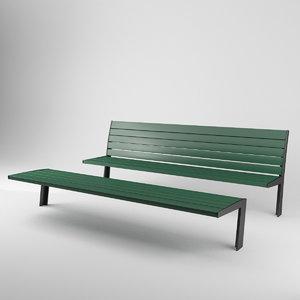 3D munich benches model