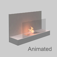 3D clement bianco fireplace model