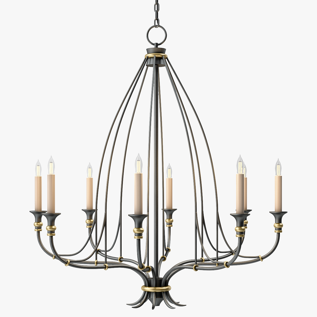 Currey And Company Folgate Chandelier Small