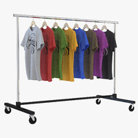 t-shirt clothing rack 3D model