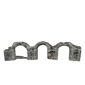 ruined arched wall 05 3D