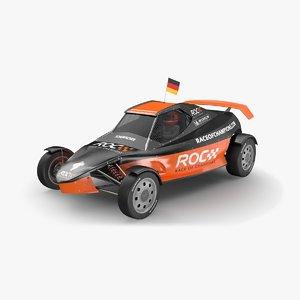 3D race champions buggy model
