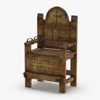 3D model torture-chair
