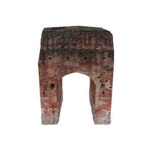 ruined arched wall 02 3D model