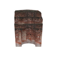 ruined arched wall 01 3D