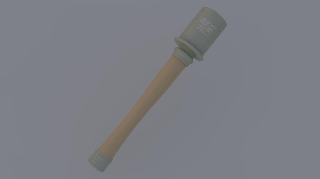 3D stielhandgranate german grenade