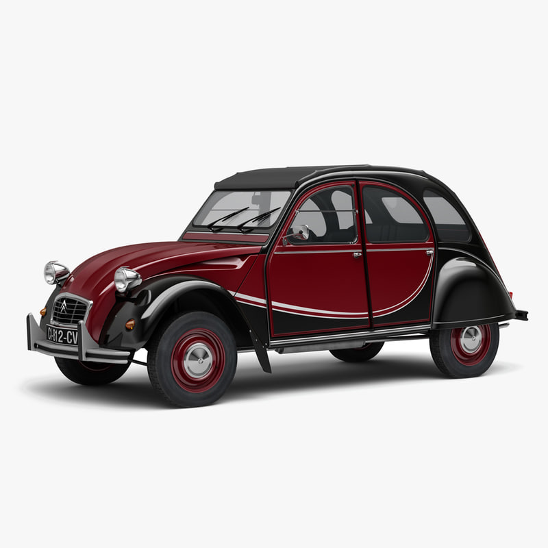 3d citroen 2cv charleston model turbosquid 1155809. Black Bedroom Furniture Sets. Home Design Ideas