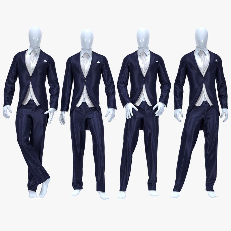 male suit model