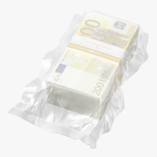 3D wrapped bills money 200