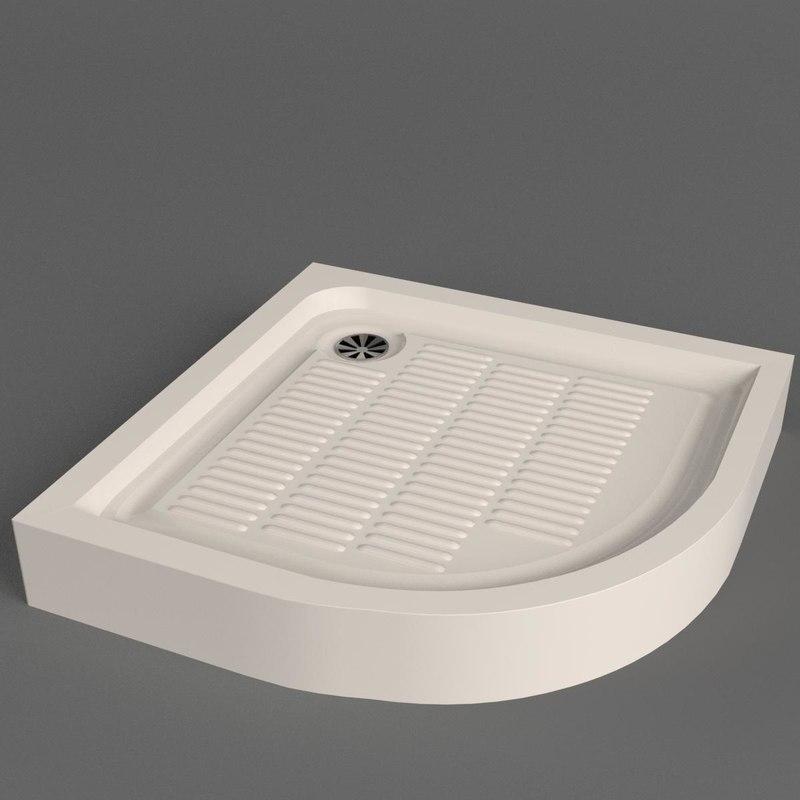 3D shower tray model