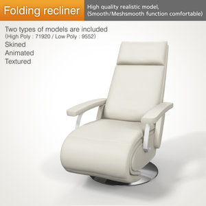 hospitals recliner folded 3D
