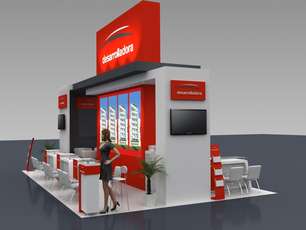 Expo Stands Interior Office 2016 : Stand expo business d model turbosquid