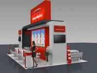 stand expo business 3D model