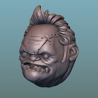 3D model pudge head