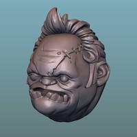 3D model pudge head