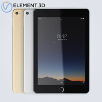 apple ipad mini4 3D