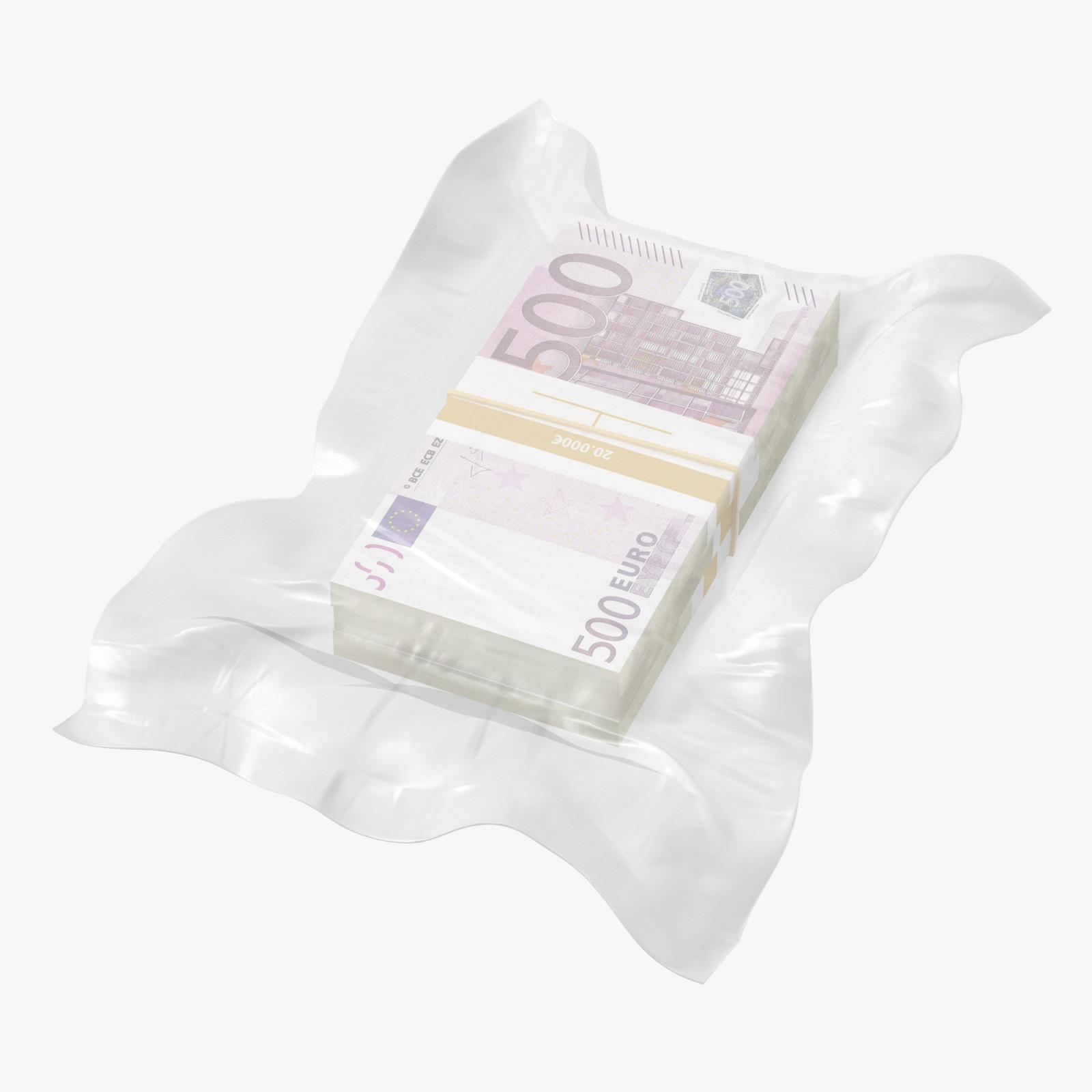 3D wrapped bills money 500
